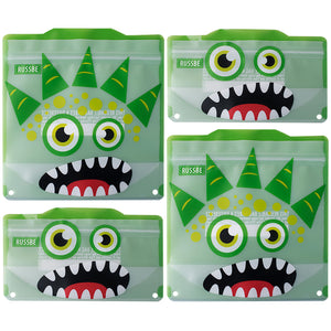 Russbe Reusable Snack and Sandwich Bags - Green Monster (set of 4)