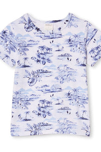 White Hawaii Summer Tee by Milky