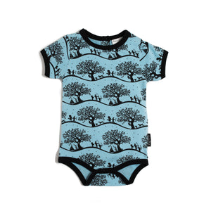 Aster and Oak Enchanted Fields Onesie - Blue
