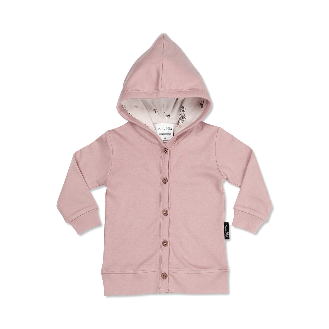 Aster & Oak Rose Hooded Cardigan