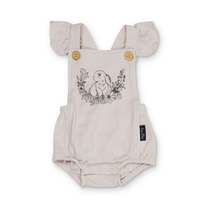 Aster & Oak Bunny Print Ruffle Playsuit 40% Off this item - applied at checkout!