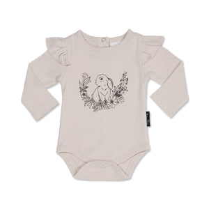 Aster & Oak Bunny Print Flutter Onesie $40% Off this item - applied at checkout!