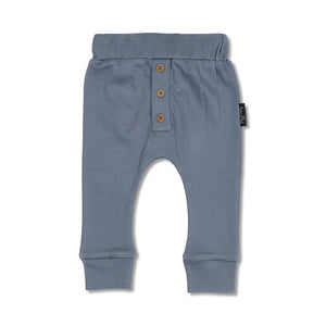 Aster & Oak Navy Button Slouch Pant