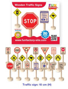 Fun Factory Wooden Traffic Signs