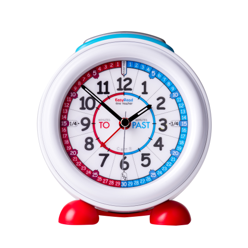 EasyRead Time Teacher Blue and Red Face Alarm Clock