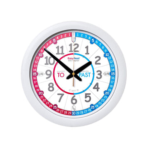 EasyRead Time Teacher Blue and Red Face Wall Clock - 29cm Diameter