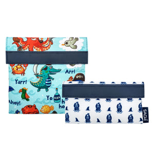 Sachi Lunch Pockets - Pirate Bay, set of 2