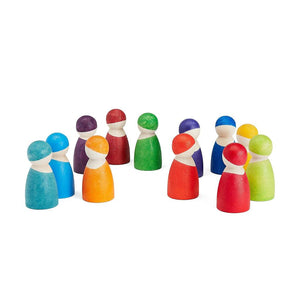 Grimm's Spiel and Holz 12 Rainbow Friends original - Discontinued