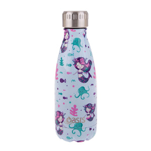Oasis Double Wall Insulated Stainless Steel Drink Bottle - Mermaids 350 ml