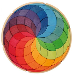 Grimm's Spiel and Holz Wooden Mandala Circle Coloured Spiral