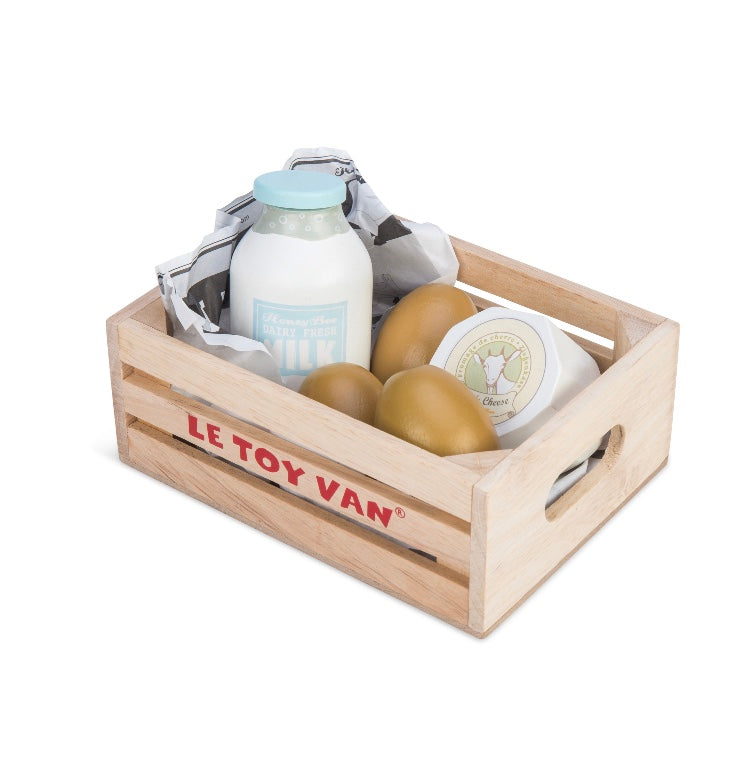 Le Toy Van My Market Crate Eggs & Dairy