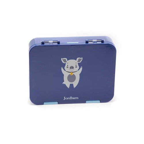Jordbarn Bento Lunch Box - Pig Indigo