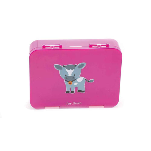Jordbarn Bento Lunch Box - Goat Magenta
