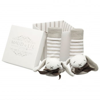 Maud n Lil - Ears Boxed Rattle Socks