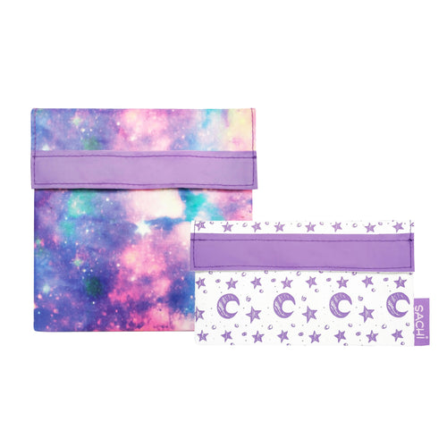 Sachi Lunch Pockets - Galaxy, set of 2