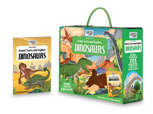 Sassi Travel, Learn and Explore Puzzle and Book set - Dinosaurs, 205 pcs