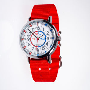 EasyRead Time Teacher Watch - Red band with Blue and Red face