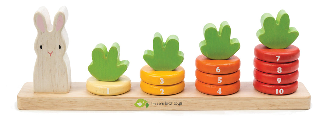 Tender Leaf Toys Counting Carrots Wooden Stacker