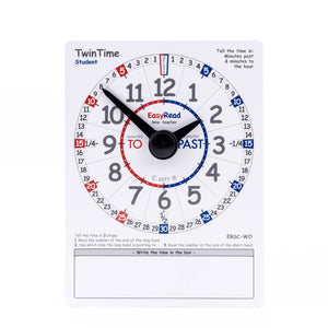 EasyRead Twin Time cards - Student Edition (Pack of 10)