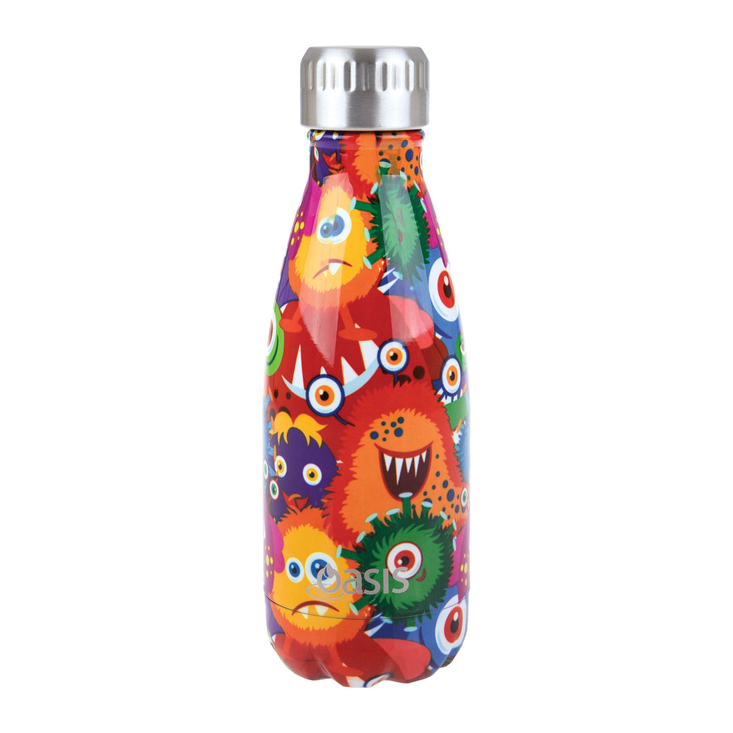 Oasis Double Wall Insulated Stainless Steel Drink Bottle - Monsters 350 ml