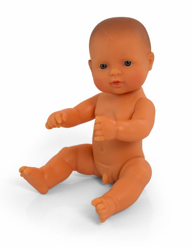 Miniland Doll - Anatomically Correct Baby, Caucasian Boy (undressed), 38 cm