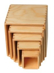 Grimm's Spiel and Holz Stacking Boxes, Small Natural