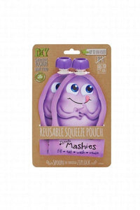 Little Mashies Resusable Squeeze Pouch - 2 pack purple