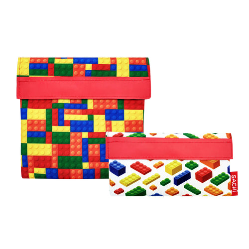 Sachi Lunch Pockets - Bricks, set of 2