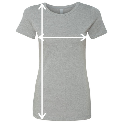 Performa Apparel, Cotton Crew T-Shirt, Women's, Sizing Example, Performa Custom