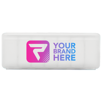 7 Day Pill Container, White, Performa Custom