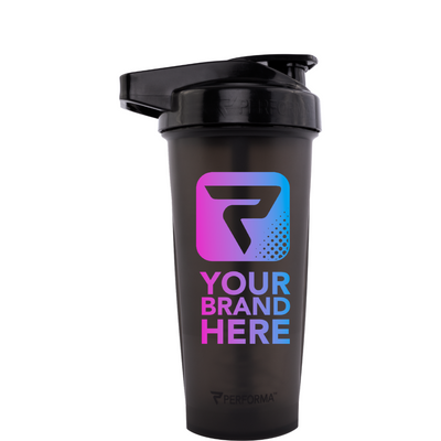 28oz (800mL), ACTIV Shaker Cup, Black, Performa Custom