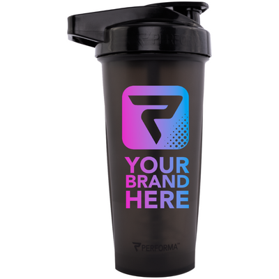 48oz (1.4L), ACTIV Shaker Cup, Black, Performa Custom