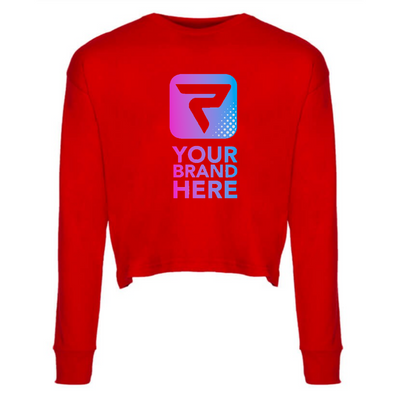 Performa Apparel, Long Sleeve Crop, Women's, Your Brand Here , Performa Custom
