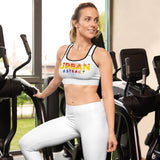 Starburst Lines Urban Abstract Padded Sports Bra