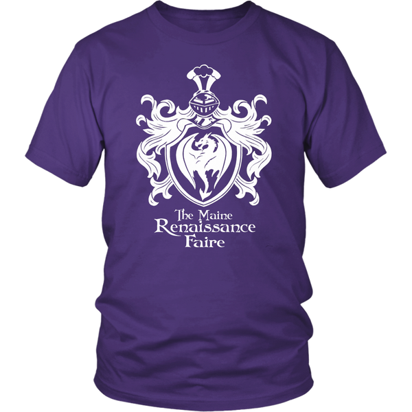 The Official Maine Renaissance Faire Tee Shirt in Purple