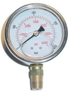 Pressure Gauge (Glycerin Filled)