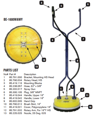 "16"" Whirl-A-Way Parts"