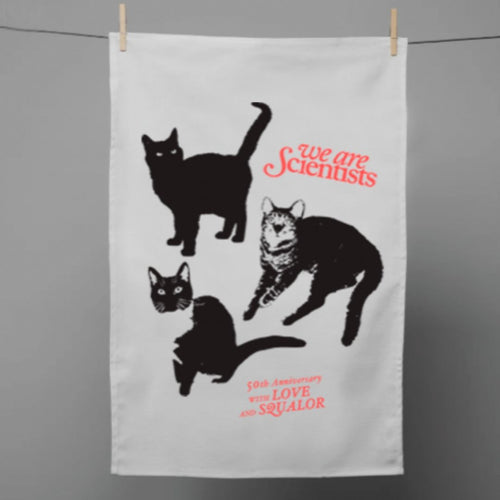 With Love & Squalor Tea Towel | We Are Scientists Official Store
