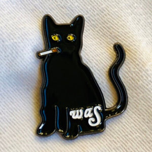 Smoking Cat - Pin Badge | We Are Scientists Official Store