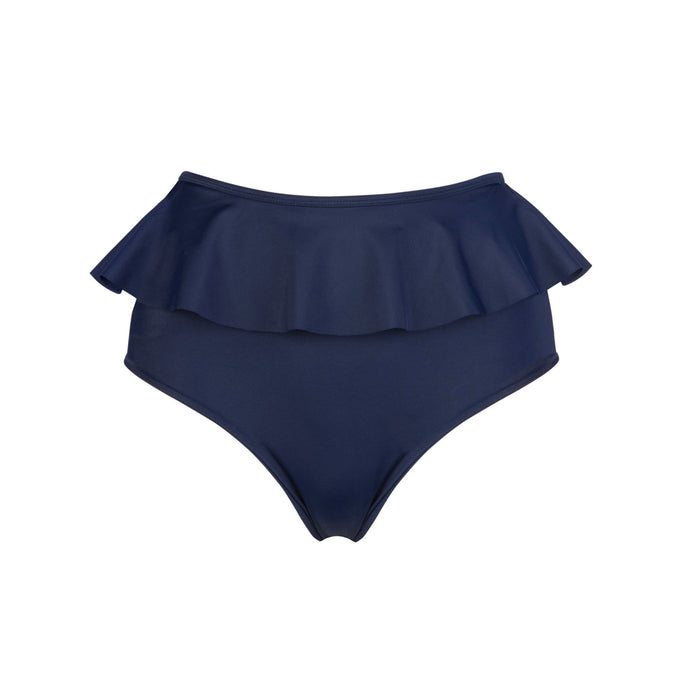 'Bold' High Waisted Frilly Bottoms Navy - The Firefly Collection
