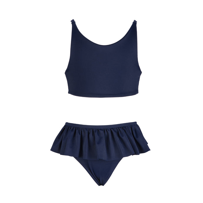 'Amelia' Frilly Bikini Set Navy - The Firefly Collection