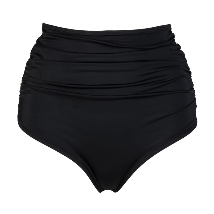 'Brave' Black High Waisted Gathered Bottoms - The Firefly Collection
