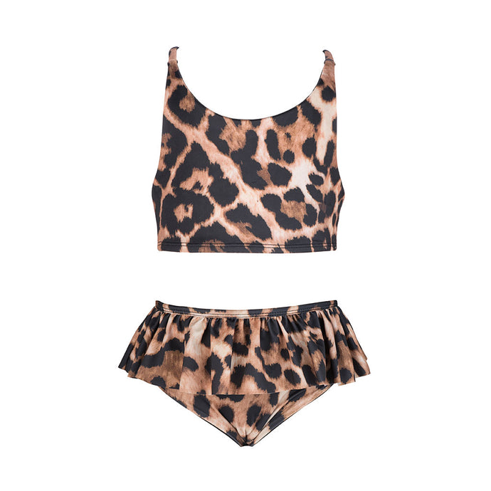 'Emme' Frilly Bikini Set Leopard - The Firefly Collection