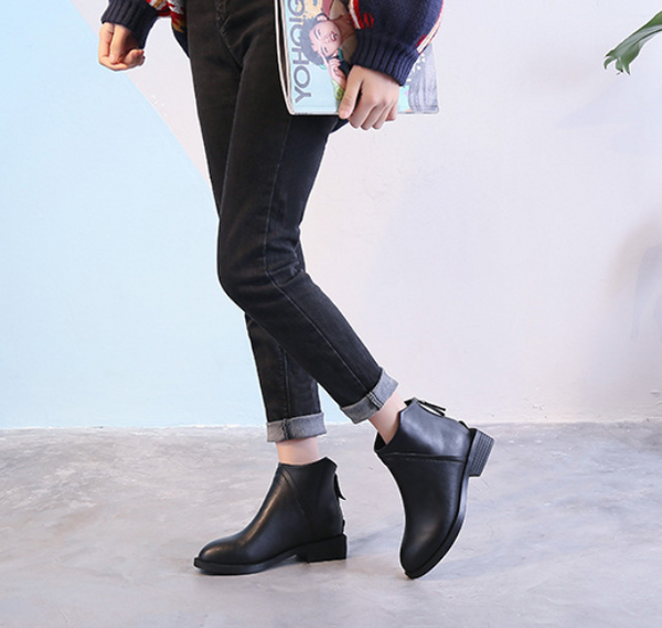 Short Tube Plus Velvet Chelsea Low Boots