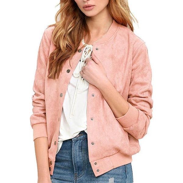 Single Breasted Plain Basic Jackets