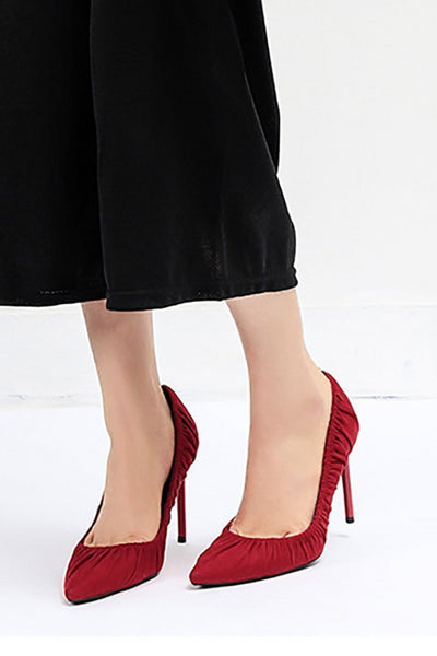 Sexy Pointy Folded Super High Heels