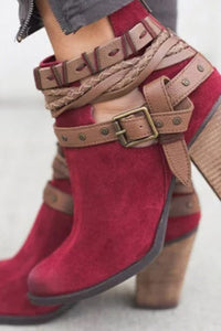 Color Block  Elegant   Boots