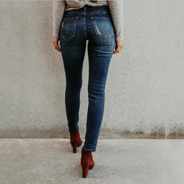 Trim And Cut Fashionable Jeans