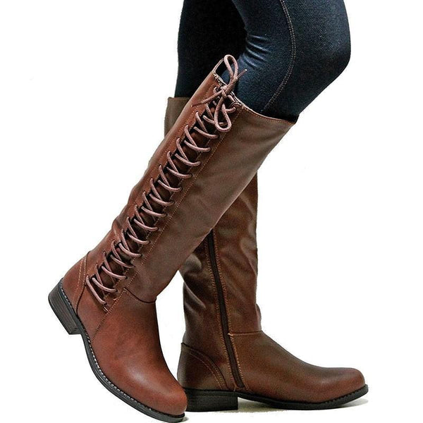 Fashion Long Tube Made Solid Color Boots