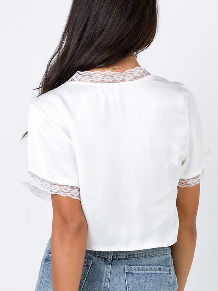 Sexy Belted Lace See-Through Short Sleeve Hollow Out Cardigan